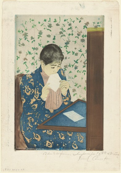 In The Letter As Other Prints From This Series Mary Cassatt Explores Private Realm Of Women Nineteenth Century