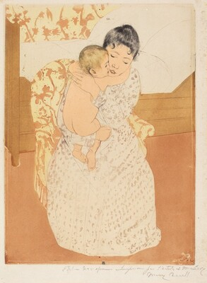 Mary Cassatt, Maternal Caress, 1890-1891