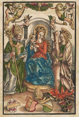 The Madonna with Saint Ulrich and Saint Afra [recto]