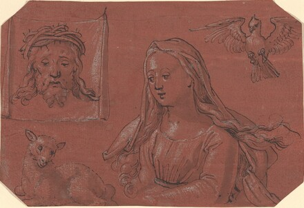 Studies of Sudarium and Saint Agnes