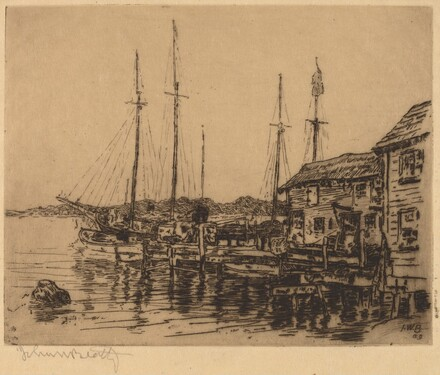 Fishing Boats Along Quay, Noank, Conn.