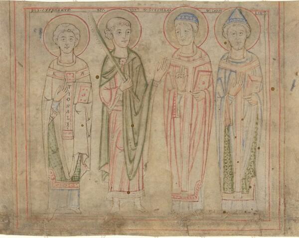 Saints Cyprian, Vitus, Stephan, and Cornelius