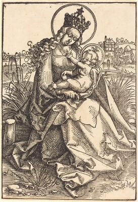 Madonna and Child on the Grassy Bank