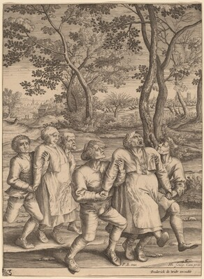 Two Groups of Peasants Moving towards the Right