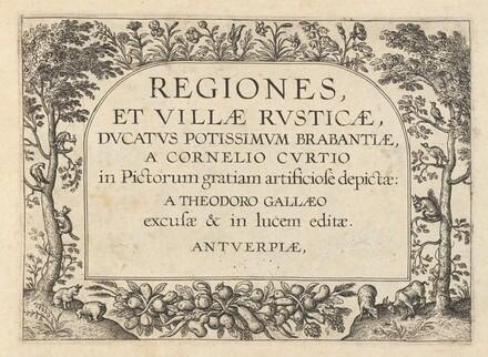 Title Page for Regiones et Villae Rusticae