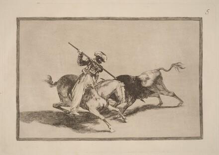 El animoso moro Gazul es el primero que lanceo toros en regla (The Spirited Moor Gazul is the First to Spear Bulls According to Rules)