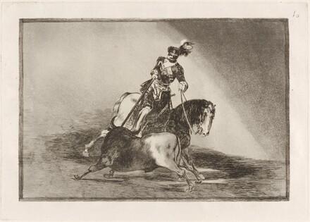 Carlos V. lanceando un toro en la plaza de Valladolid (Charles V Spearing a Bull in the Ring at Valladolid)