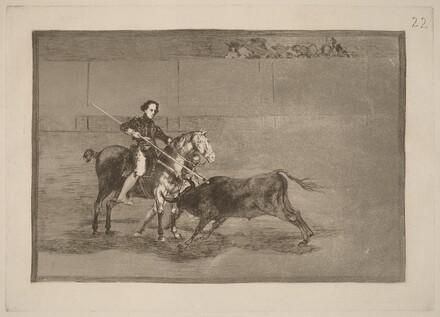 Valor varonil de la celebre Pajuelera en la de Zaragoza (Manly Courage of the Celebrated Pajuelera in the Ring at Saragossa)
