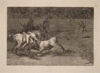 Mariano Ceballos, alias el Indio, mata el toro desde su caballo (Mariano Ceballos, Alias the Indian, Kills the Bull from His Horse)