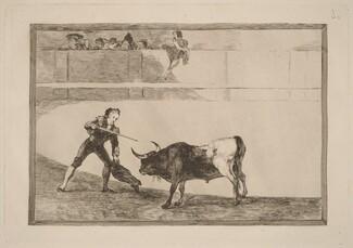 Pedro Romero matando a toro parado (Pedro Romero Killing the Halted Bull)