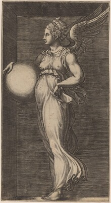 Allegorical Figure Holding a Sphere
