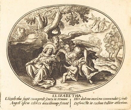 The Flight of Saint Elizabeth with the  Infant Saint John