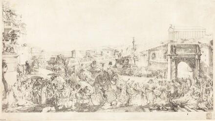 Triomphe de Pompee dans Rome