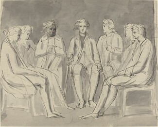 Group of Men Seated in a Circle [recto]