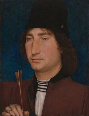 Hans Memling, Portrait of a Man with an Arrow, c. 1470/1475