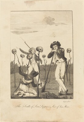 The Sculls of Lieut Leppar, & Six of his Men