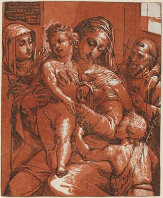 Madonna and Child Accompanied by Saints