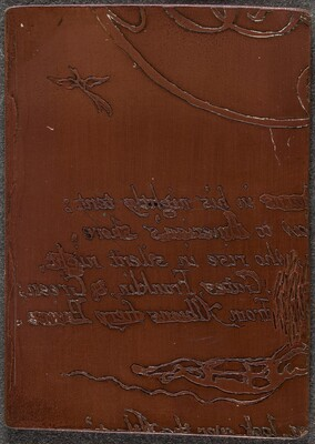 Fragment of cancelled plate for A Prophecy [recto]
