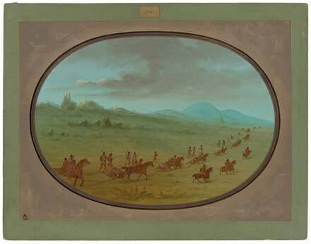 Halsey's Bluff - Sioux Indians on the March