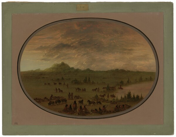Bivouac of a Sioux War Party at Sunrise