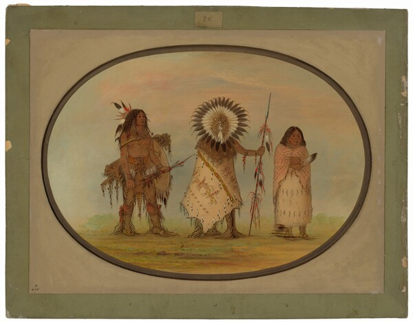 Crow Chief, His Wife, and a Warrior