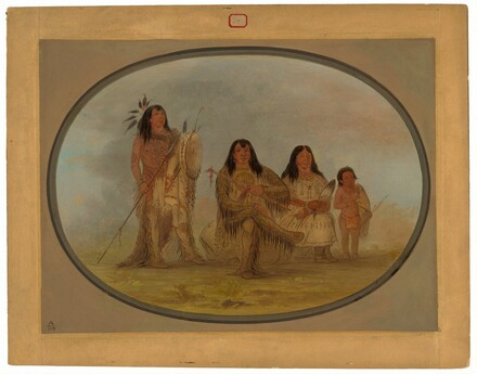 A Blackfoot Chief, His Wife, and a Medicine Man