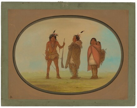 Arapaho Chief, His Wife, and a Warrior