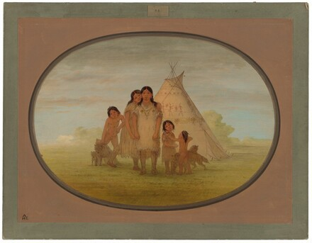 Camanchee Chief's Children and Wigwam