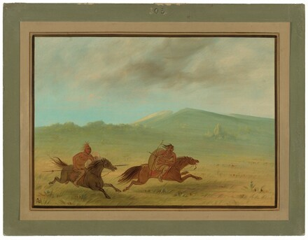 An Osage Indian Pursuing a Camanchee