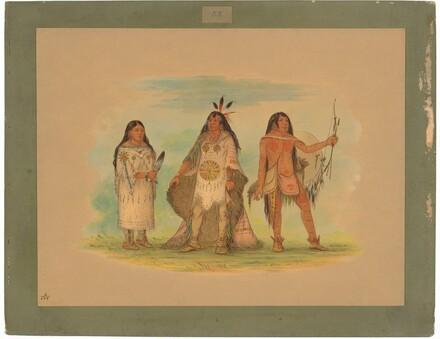 Three Minatarree Indians