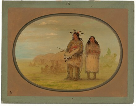 Riccarree Chief and His Wife
