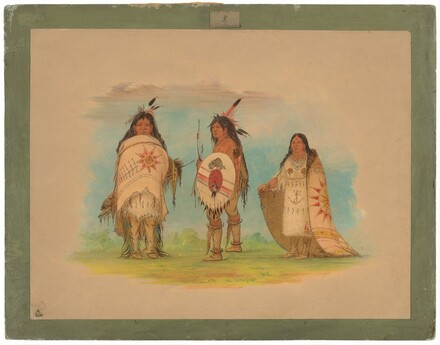 Three Riccarree Indians