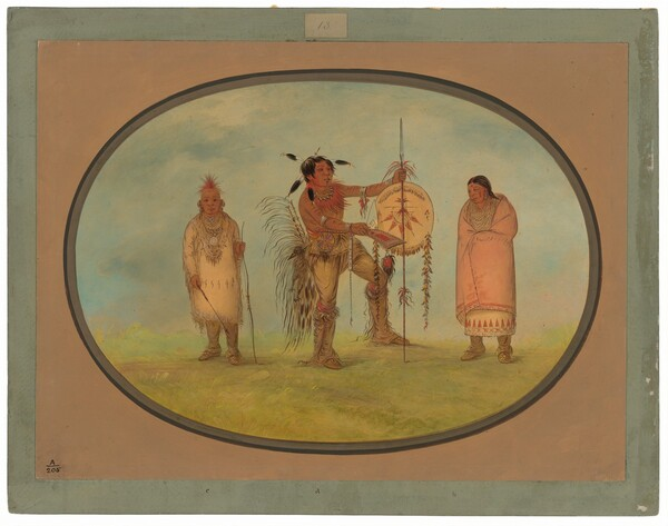 Saukie Warrior, His Wife, and a Boy