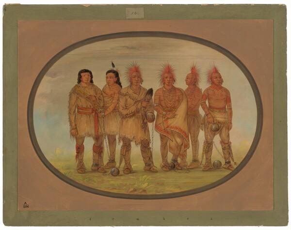 Black Hawk and Five Other Saukie Prisoners