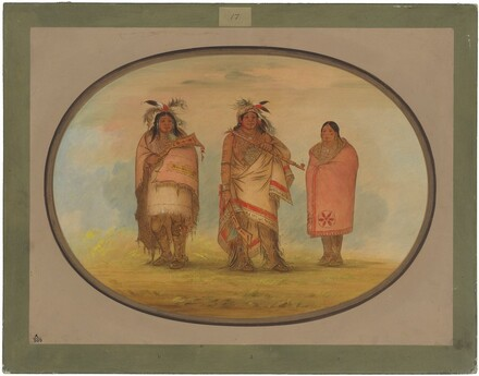 Menomonie Chief, His Wife, and Son