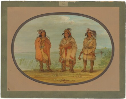 Seneca Chief, Red Jacket, with Two Warriors