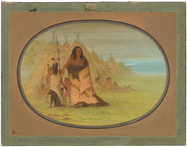 Puncah Chief Surrounded by His Family