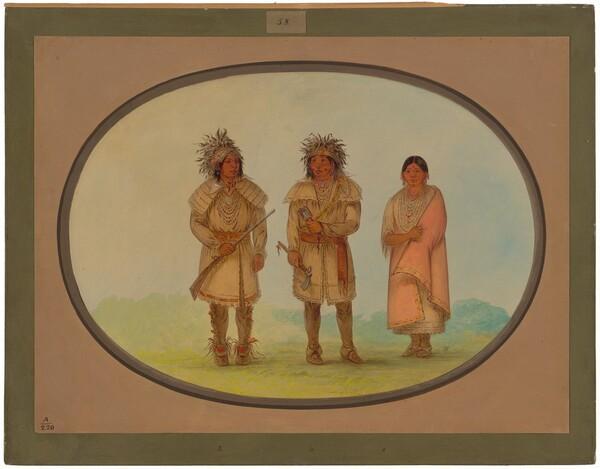 Three Peoria Indians