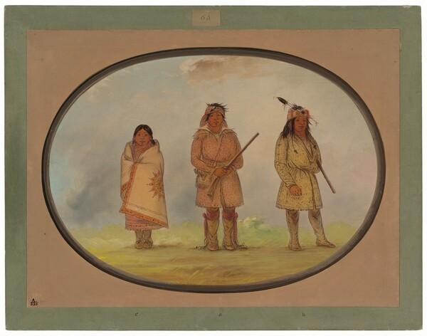 Three Delaware Indians