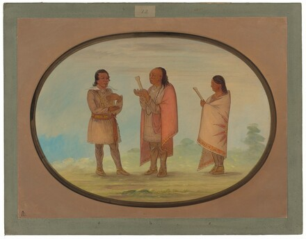 Kickapoo Indians Preaching and Praying
