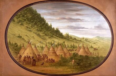 An Ojibbeway Village of Skin Tents