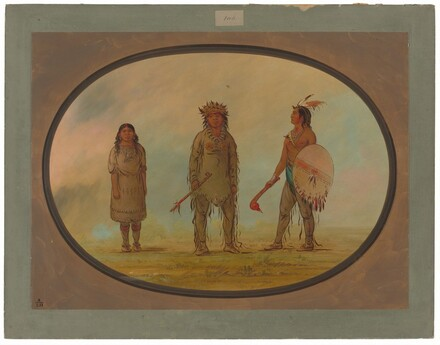 Athapasca Chief, His Wife, and a Warrior