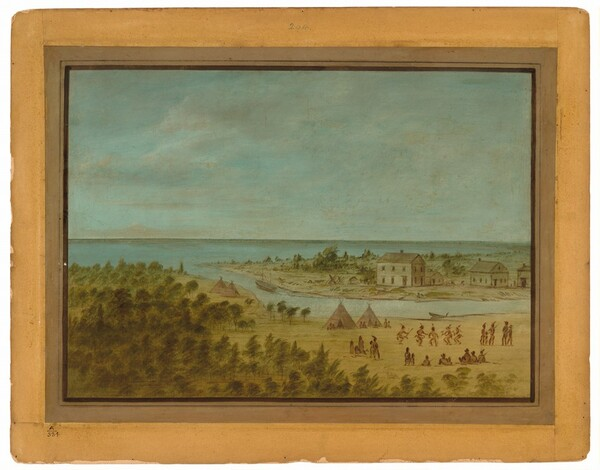 View of Chicago in 1837