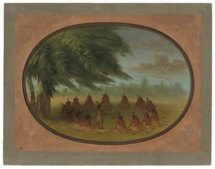 An Indian Council - Sioux