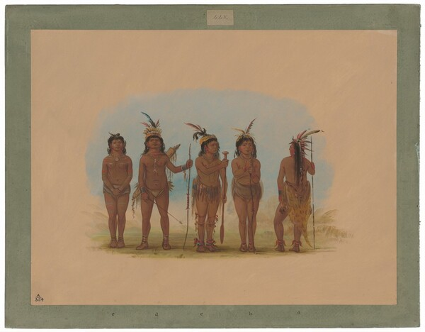 Five Caribbe Indians