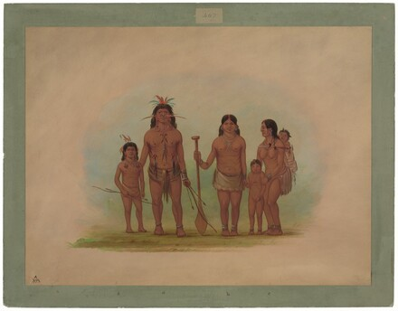 Orejona Chief and Family