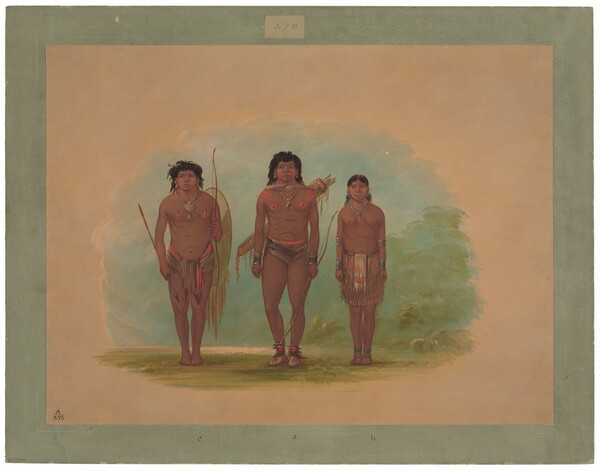 Chaco Chief, His Wife, and a Warrior