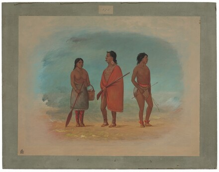 Botocudo Chief, His Wife, and a Young Man