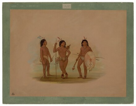 A Puelchee Chief and Two Young Warriors