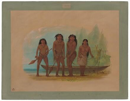 Four Fuegian Indians
